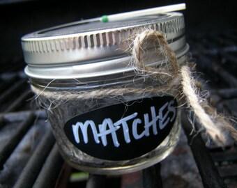 Mason Jar Match Box Holder