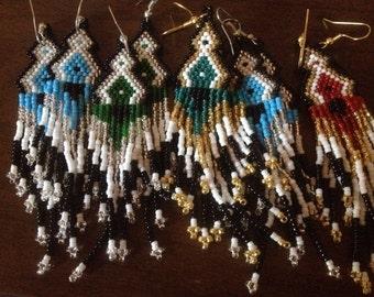 WHOLESALE  20 pair native american beaded earrings