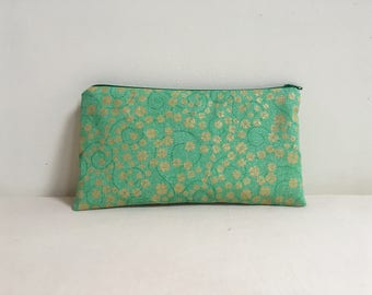Notions Bag, Notions Pouch, Pencil Case, Phone purse, Makeup Bag, St. Patrick's Day Themed