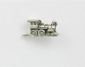 Sterling Silver 3-D Train Engine Charm