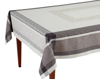 Bargeme Ecru/Gris French Jacquard Tablecloth