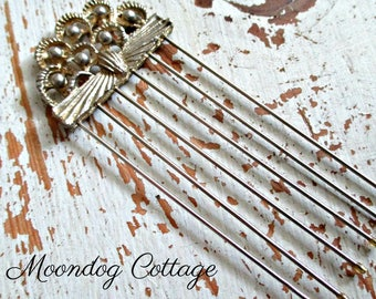 Vintage Gold Hair Pin - Made in Japan