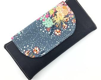 Slimline Wallet, Ladies Wallet, Clutch Wallet, Card Wallet, Small Ladies Wallet, Cork Wallet