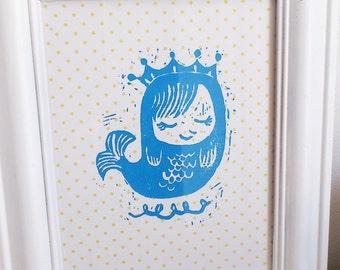 Little Mermaid Inkjet Print