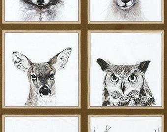 Animal Kingdom Fabric Panel by Rafale Design Ltd. for Robert Kaufman