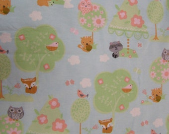 Woodland Friends Flannel Fabric
