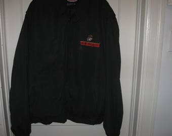 JWM Wholesale, Inc. Marines Jacket XXL Zip Front Lined Jacket Windbreaker U.S. Marines