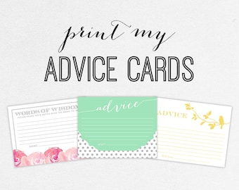 Printing Services - Advice Cards