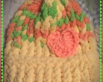 Neon Bright Newborn-Toddler Gender Neutral Hand Knit Baby Hat