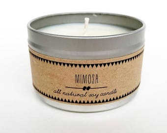 MIMOSA Soy Candle // Gift for Her Brunch Kitchen Decor Spring Candle Fruity Candle Orange Candle