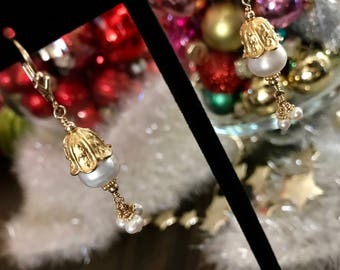 Pearl Vermeil Earrings