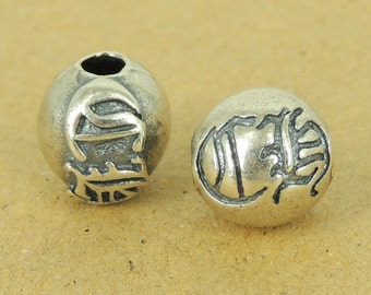 925 Sterling Silver CH Bead Vintage Celtic WSP493 Wholesale: See Discount Coupons in Item Details