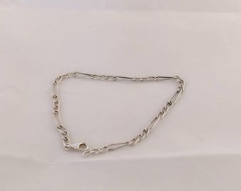 Sterling silver bracelet figaro model