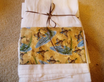 Flour Sack Dish Towels/Mallard Ducks