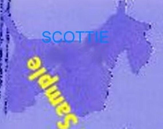 Puppy Bows ~ Scottish Terrier dog breed plastic craft stencil