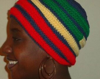Cherry Sunday, Crochet African Headwrap