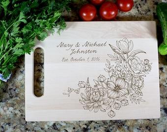 Gift Cutting Board Wedding Gift Cutting Board Housewarming Gift Anniversary Gift Personalized Cutting Board Wood Custom Engraved