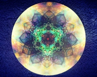 Sacred geometry space mandala sticker