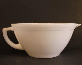 Federal Milk Glass Batter Bowl Mixer Spout Pour Bowl