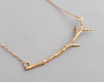 Tree Necklace - Branch Necklace - Minimalist Necklace - Twig Necklace - Delicate Gold Necklace - Layering  Necklace - Minimal Necklace
