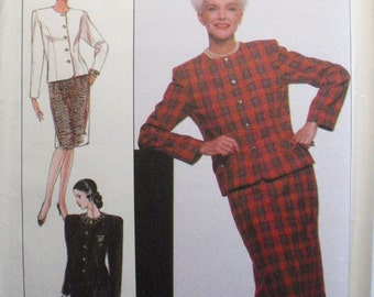 Misses/Misses Petite Skirt and Lined Jacket, Business Suit - Sewing Pattern - Simplicity 9415 - Size 16-18-20-22-24, Bust 38 - 46, Uncut