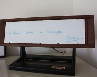 Design lamp from old brand vintage 60s Ufesa radiator.