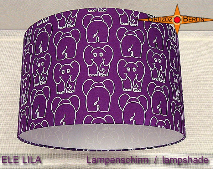 Purple Lamp Shade Elephant ELE LILA Ø35 Cm Kids Lampshade The Purple  ELEPHANT