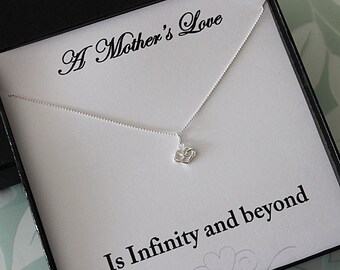 Sterling Silver infinity heart Necklace, Bridesmaid Necklace, Dainty jewelry, Sterling silver necklace, Infinity Necklace, Heart Necklace