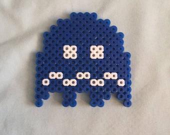 Pac-Man Ghost Perler Sprite