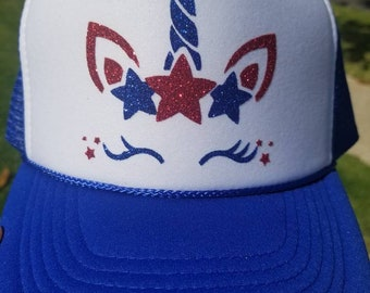 Patriotic Unicorn Youth Hat