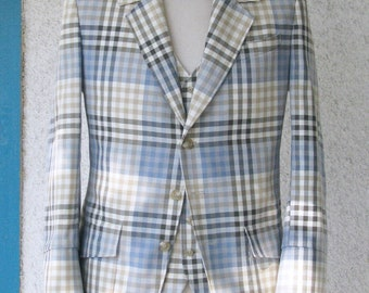 3pc Plaid Summer Suits----1909 Bespoke