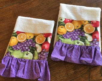 Decorative Dish Towel with Fruit