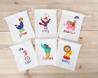 Circus Favor Bags Carnival Birthday Party Favors Personalized Party Gift Bags Loot Bags Goodie Bags Cirque Theme Fair Festival