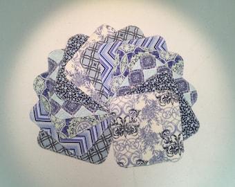 Reusable Cloth Napkins - Blues