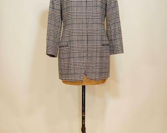 Giorgio Armani houndstooth coat, size small