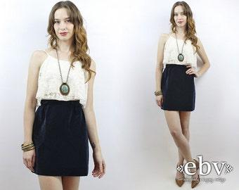 Velvet Skirt High Waisted Skirt High Waist Skirt Navy Mini Skirt Navy Velvet Skirt 1970s Skirt Vintage 70s Blue Velvet Mini Skirt XS S