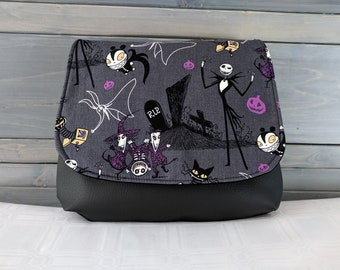 Nightmare Before Christmas, Jack Skellington, Dark Gray  KELSI II Cross Body Purse Mini Messenger