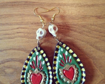 Mexican heart earring