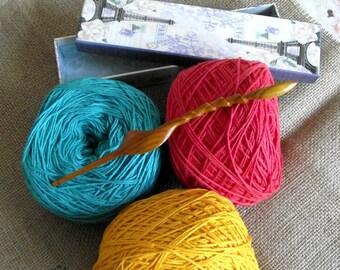 ERGONOMIC CROCHET HOOK Wood Crochet Hook Size G/6 4mm comfortable stress free for your hands Handmade hand carved Crochet Hooks Wood