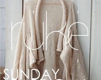 Knitting pattern for Sunday sweater cardigan