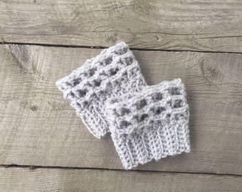 Boot Cuff, Women's, Child's, Toddler's, Texture, Warm, Handmade, Crochet