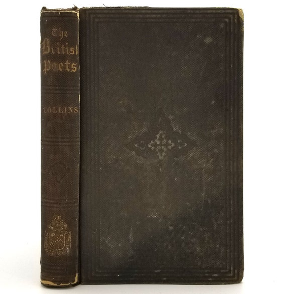 The Poetical Works of William Collins Hardcover HC 1859 - Little Brown & Co - Poetry, Poems, Verse, Antique