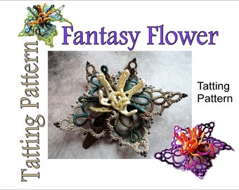 "Tatting Pattern ""Fantasy Flower"" PDF Instant Download"