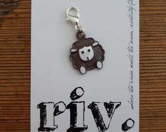 Knitting Stitch Marker | Knitting Progress Marker | Crochet Removable Stitch Marker | Zipper Pull |  More Sheep!!!