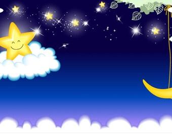 SLEEPY MOON & STARS License Plate