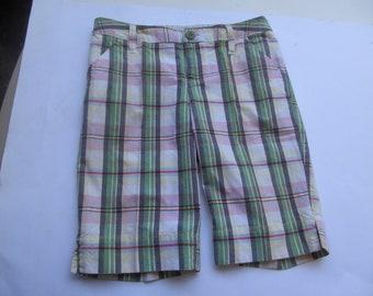 Girls Shorts - Plaid  Shorts - size 12