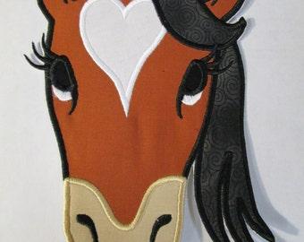 Iron On Applique -  Bella the Diva Horse