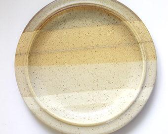 1980s Fabrik stoneware salad plate, Salishan pattern.
