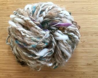 Coastal - Alpaca Yarn 42yds Undyed Handspun Super Bulky Chunky ArtYarn