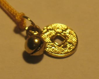 Good Luck Long Life Coin Amulet Talisman Omamori Charm